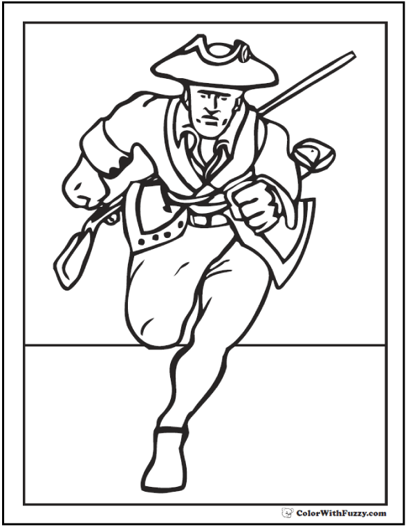 Patriot Fourth of July coloring page.
