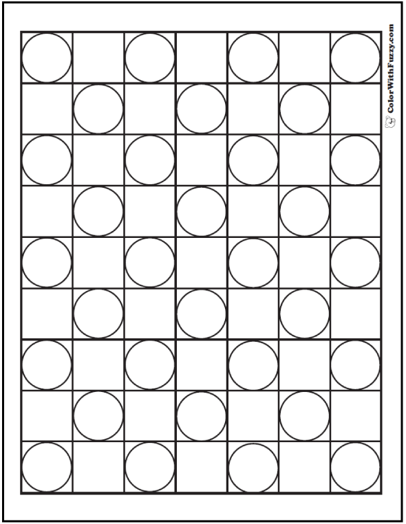 Full Checker Board Pattern Coloring Page
