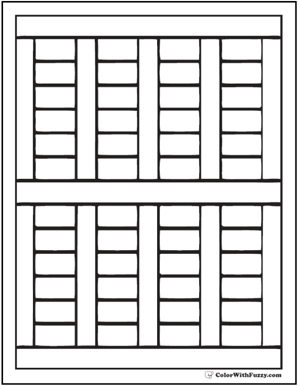 Shutter Pattern For Coloring