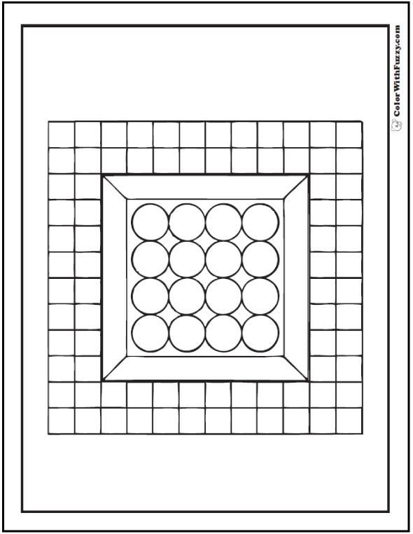 Framed Circles: Patterns For Coloring