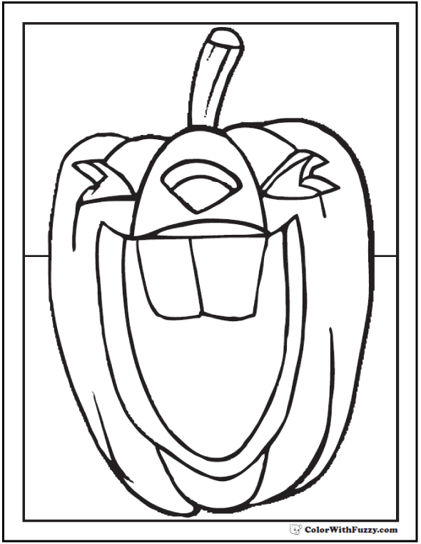 Laughing Pumpkin PDF Halloween coloring page