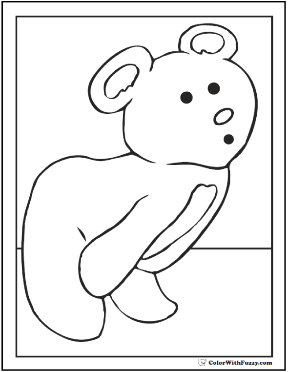 Peek A Boo Teddy Bear Printable Activity
