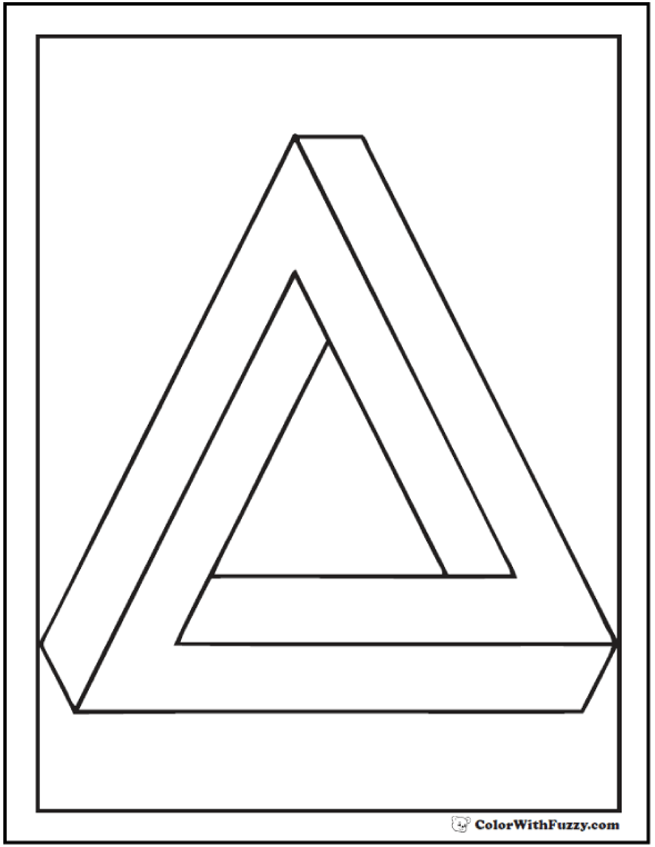 Penrose Triangle Coloring