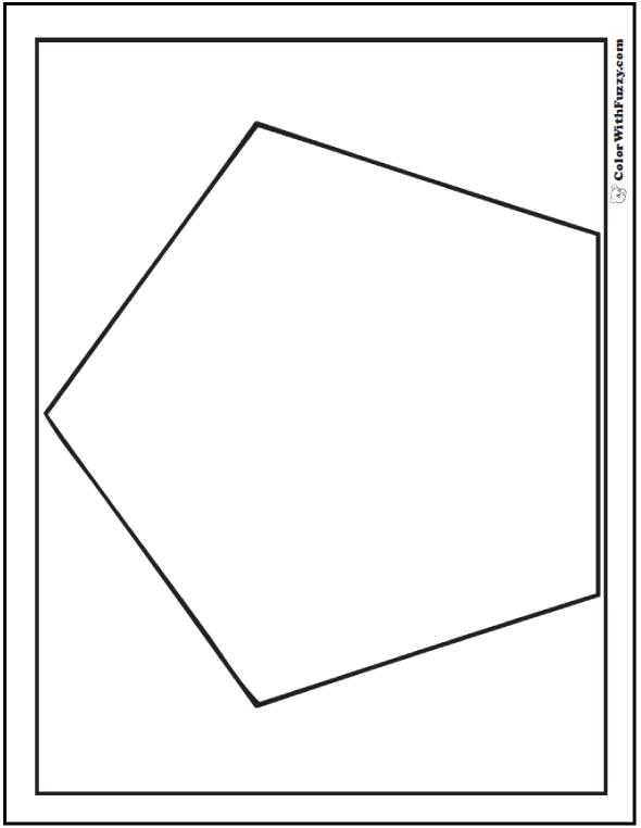 pentagon page coloring pages