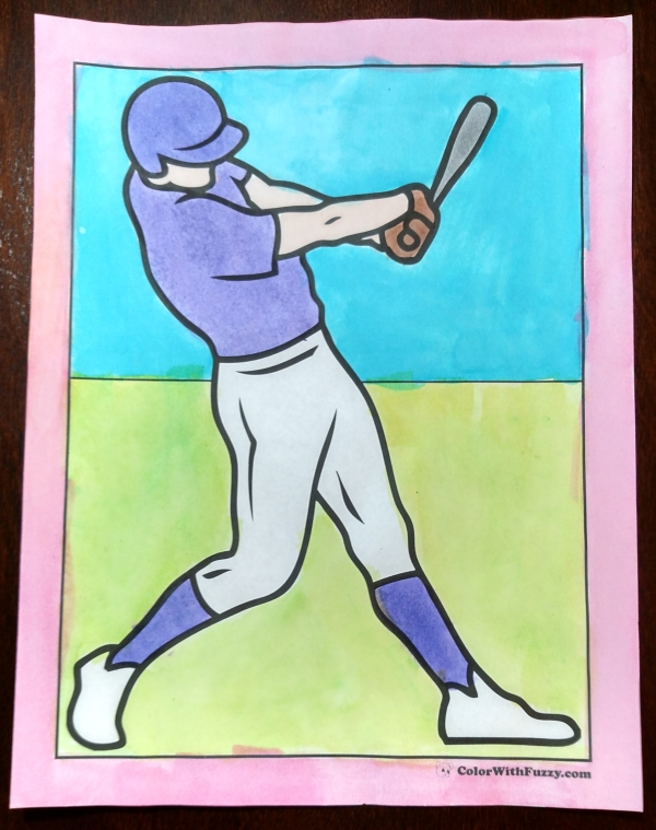 Fun Baseball Coloring Sheets: Batters, Catchers, Pitchers, Runners, Equipment, and Trophy Awards.