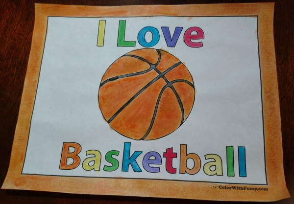 I Love Basketball Coloring Pages!