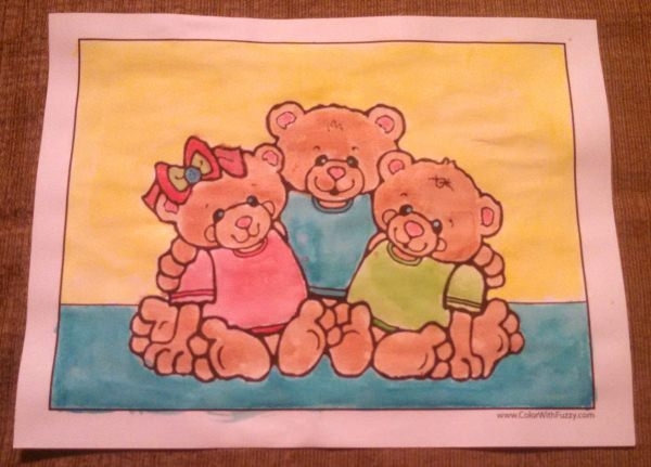 Bear Family Coloring Pages