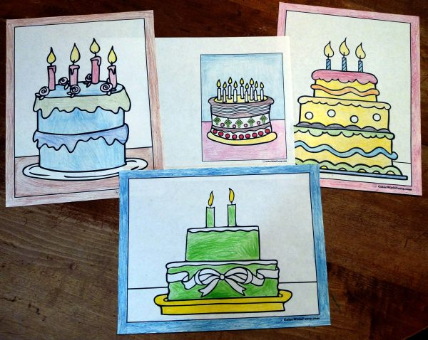 fun birthday cake coloring pages fuzzys birthday cake coloring pages