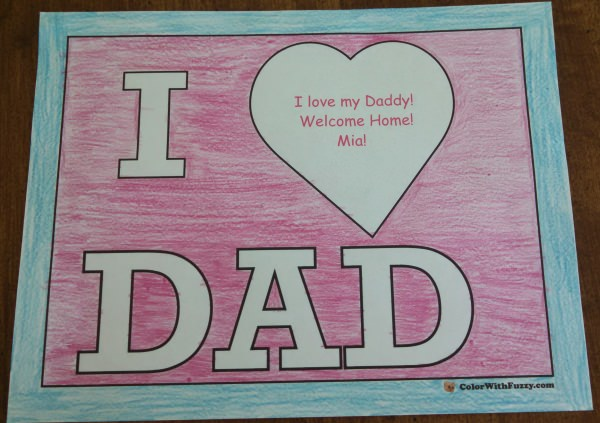 I love Dad! Coloring Pages for Fathers Day!