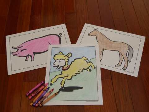 Scores of farm coloring pages of animals!