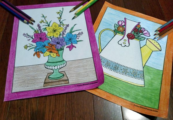 Coloring Pages Zinnia : 102 flower coloring pages: customize and print pdf