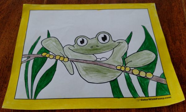 Frog Pages To Color Kids Love A Cheerful Coloring Page