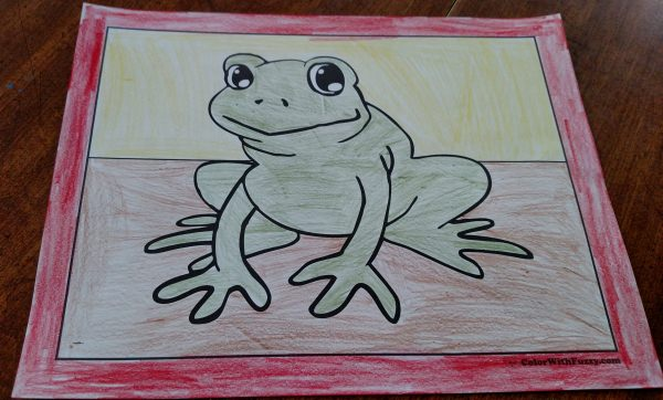Fun Frog Coloring Pictures For Kids