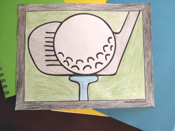 Golf Coloring Sheets: Golfers, caddies, carts, and more.