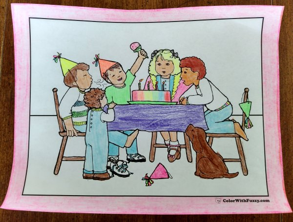 Happy birthday coloring pages!