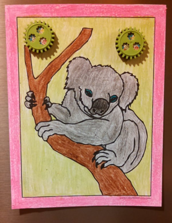 Koala Coloring Pages For Kids Hop A Ride With A Koala - Koalas-coloring-pages
