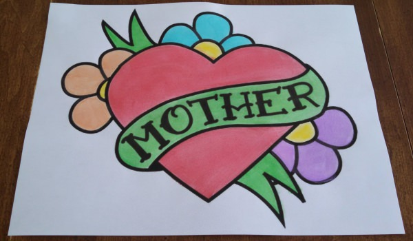 Beautiful Mothers Day Coloring Sheets Page For Kids To Color