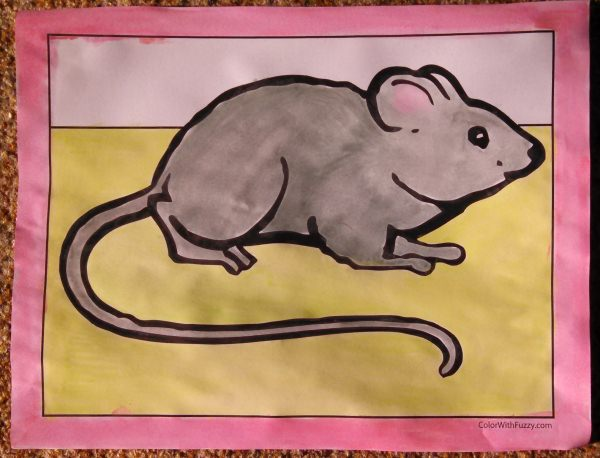 Printable Mouse Coloring Pages For Kids.