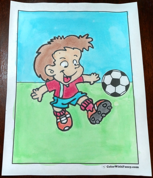 Fun Soccer Coloring Sheets