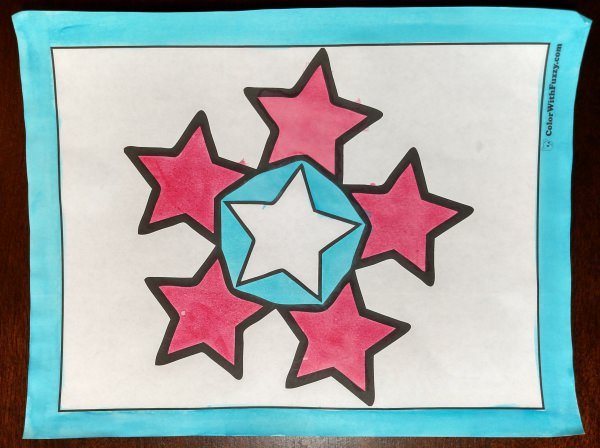 Fun Stars Coloring Page for kids and adults!
