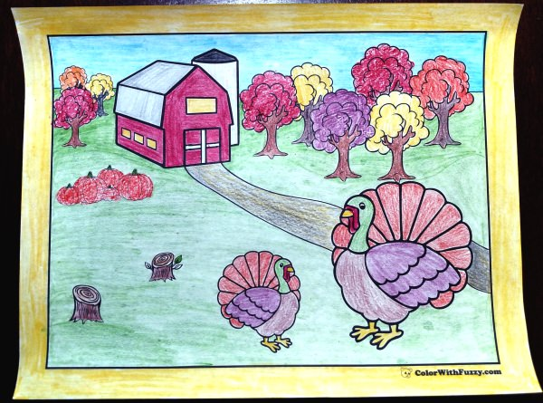 Neat Turkey Coloring Sheets