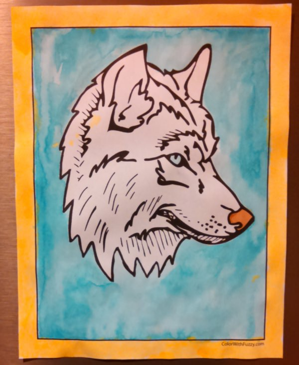 Can you paint a white wolf with my wolf coloring sheets?