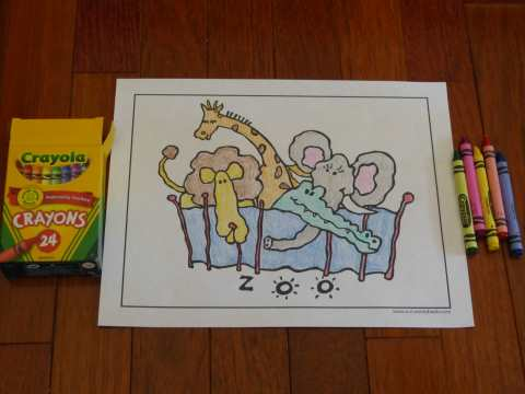 Fun zoo animal for kids to color!