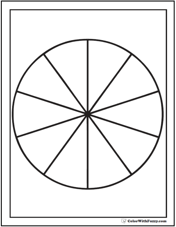 pie chart coloring pages - photo#1