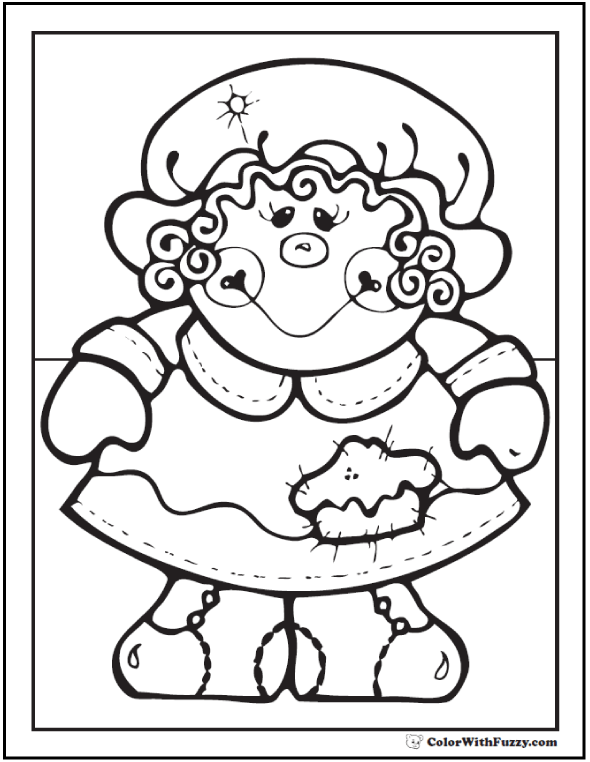 Pilgrim Girl Coloring Picture