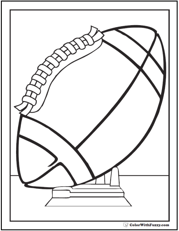 football coloring pages customize and print pdf - Sports Pictures To Colour