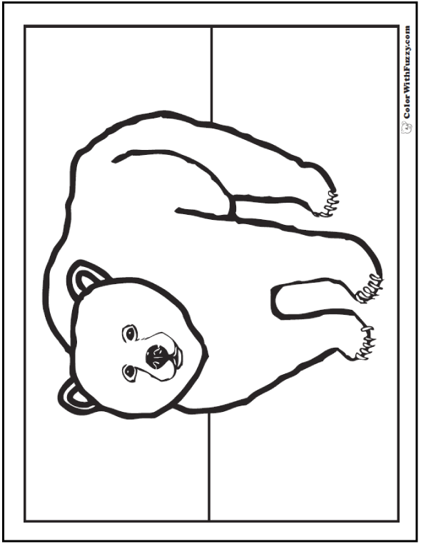 Preschool Grizzly Coloring Picture
