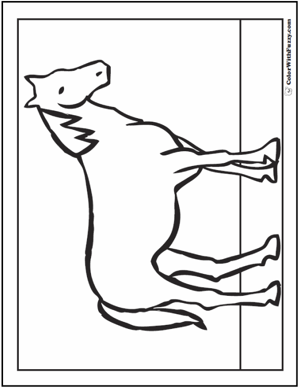 Preschool Horse Coloring Page: Old Gray Mare