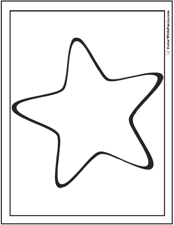 Preschool Star Coloring Page