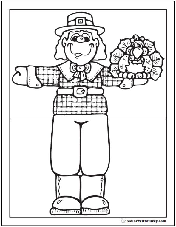 Preschool Thanksgiving Printable: Pilgrim and Turkey