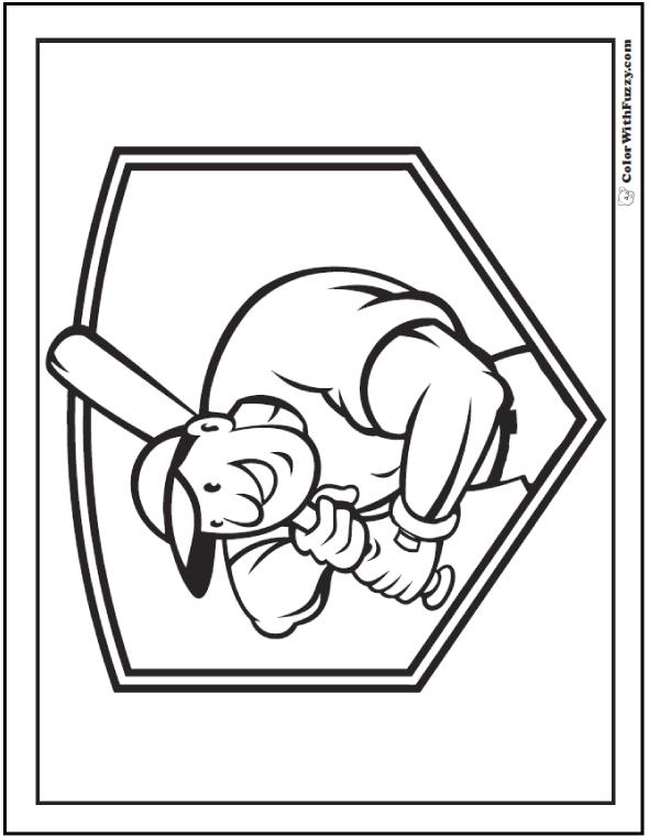 Batter's Up Printable Baseball Coloring