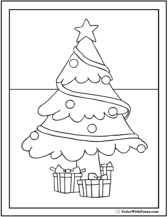 Printable Christmas Tree Coloring Page