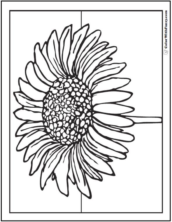 Printable Daisy Coloring Page - One Blossom