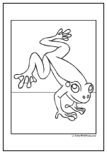 Frog coloring pages.