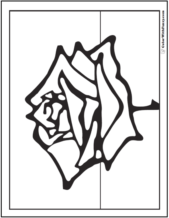 Printable Rose Spring Flowers To Color