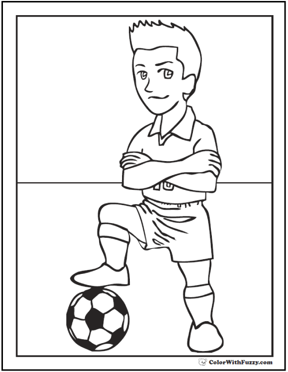 360 Soccer Move Printable Coloring Sheet