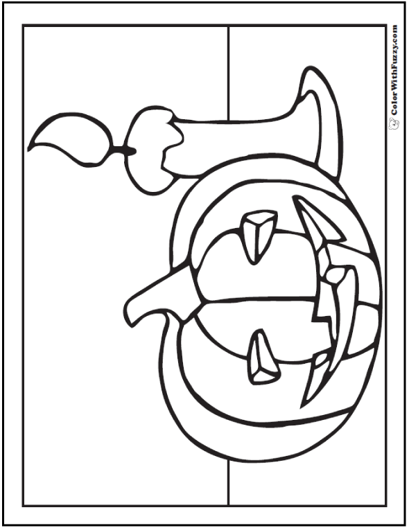 Halloween coloring pages: Preschool Pumpkin And Candle Coloring