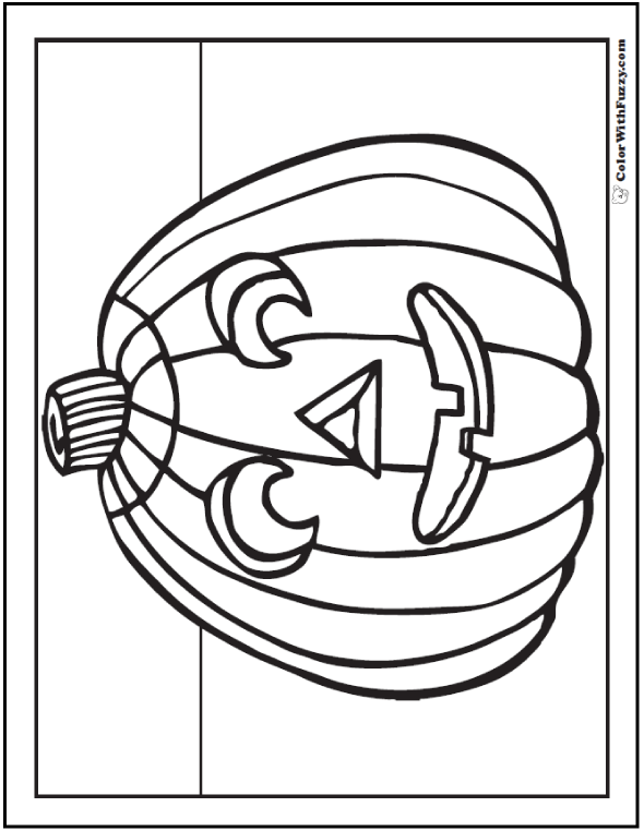 Halloween coloring pages: Kindergarten Jack O'Lantern Pumpkin Coloring Sheet