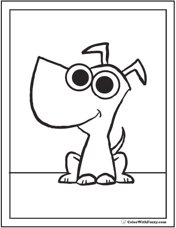 Cool dog coloring page.