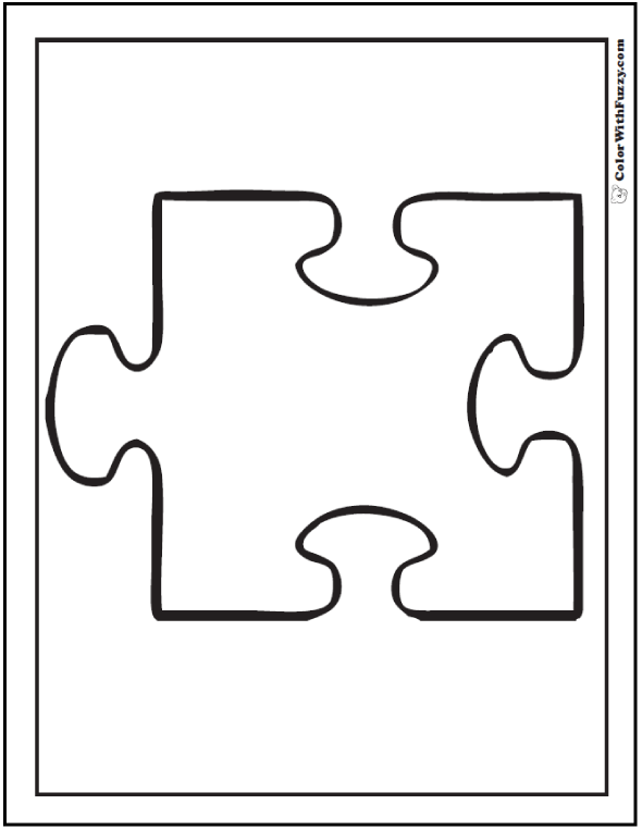 Puzzle Shape Coloring Sheet