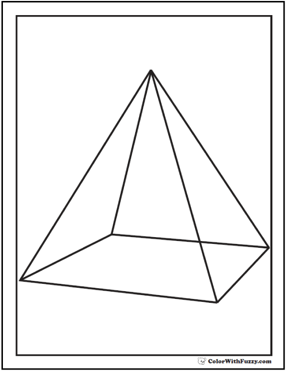 three dimensional shapes coloring pages - photo#22