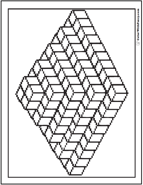 Cubes Pyramid Coloring Sheet