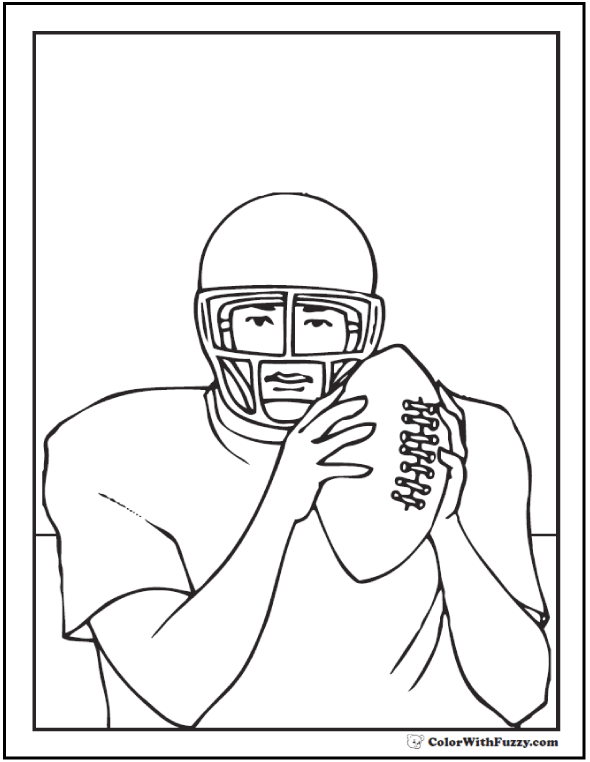 Quarterback Plan Football Coloring