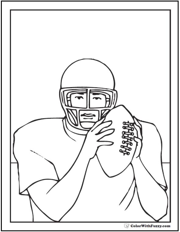 Quarterback Plan Football Coloring