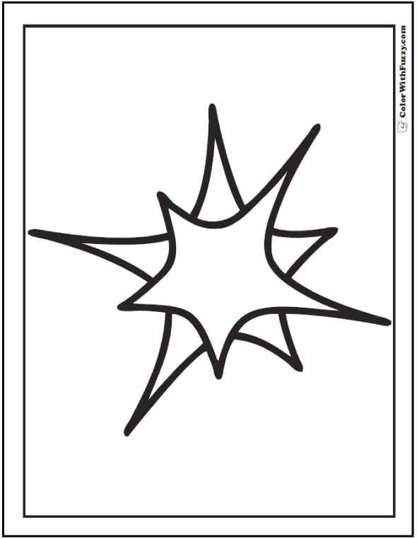 Radiant Star Coloring Pages