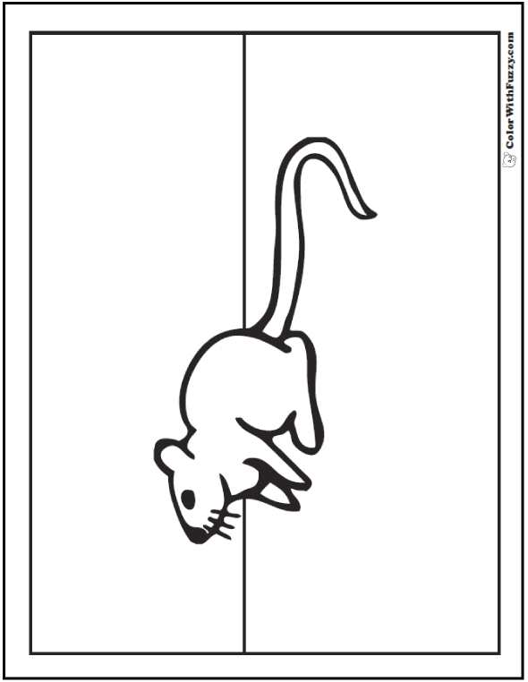 Cute Rat Coloring Picture